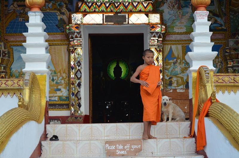 Tempel, Huay Xai, Laos