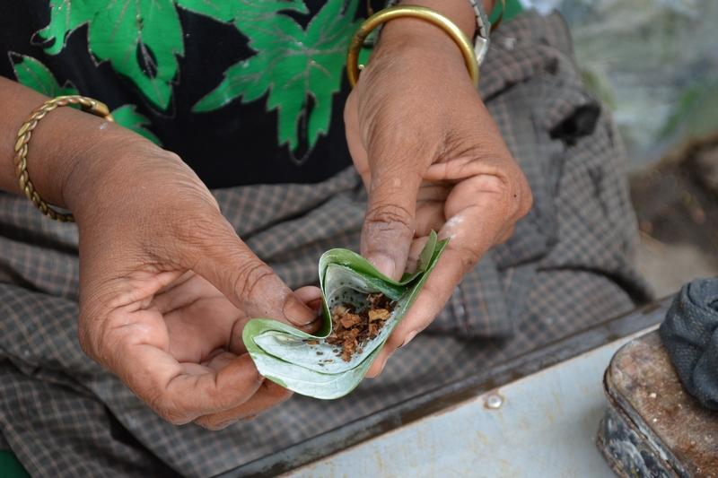 Betelnuß-Blatt, Yangon