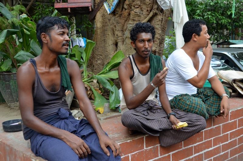 Bewohner Yangons